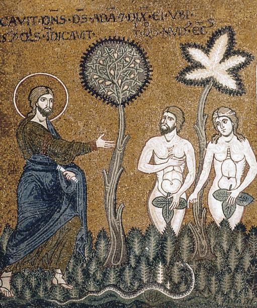 Mosaique-Monreale_Adam-et-Eve-apres-la-Chute